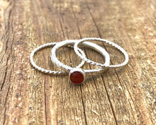 Load image into Gallery viewer, Carnelian Stacking Ring Set