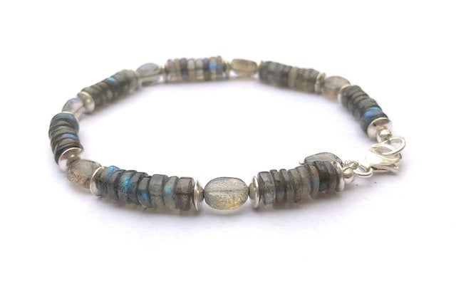 Silver and Blue Flash Labradorite Bracelet