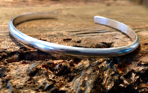 Thick Solid Sterling Silver Cuff Bracelet - 5.2mm Wide
