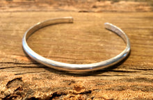 Load image into Gallery viewer, Thick Solid Sterling Silver Cuff Bracelet - 5.2mm Wide