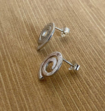 Load image into Gallery viewer, Swirl Stud Earrings in Sterling Silver