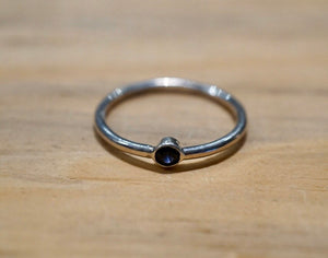 Genuine Solitaire Gemstone Ring - Ruby, Sapphire or Citrine