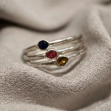 Load image into Gallery viewer, Genuine Solitaire Gemstone Ring - Ruby, Sapphire or Citrine
