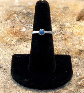Sterling Silver Lapis Solitaire Ring