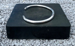 Heavy Solid Sterling Silver Cuff Bracelet - 4.1mm Round