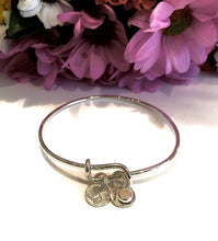 Load image into Gallery viewer, Adjustable Bangle Charm Bracelet, Have it Personalized