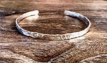 Load image into Gallery viewer, Wide Textured Sterling Silver Cuff Bracelet