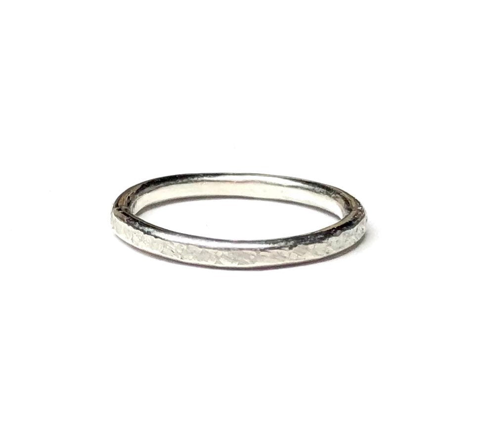 Sterling Silver Ring, Textured