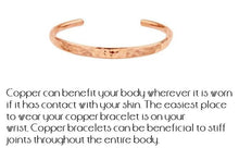 Load image into Gallery viewer, Copper Hammered Cuff