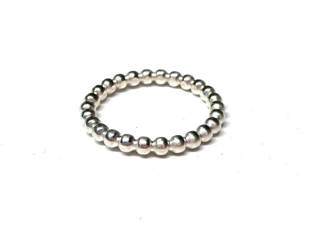 Sterling Silver Ring - Beaded Style