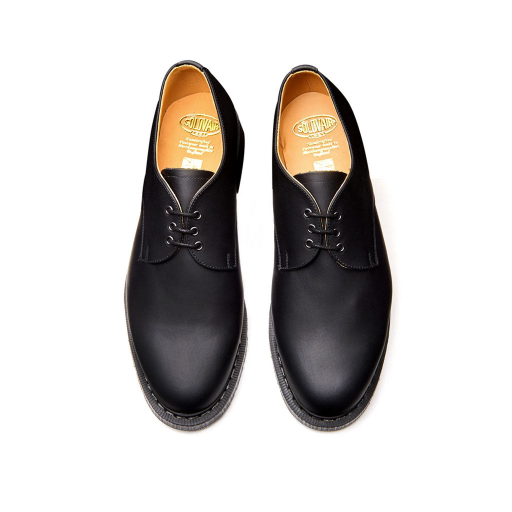 Solovair Gibson Shoe Black Greasy