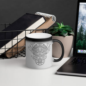 Life Cycle Matte Black Magic Mug