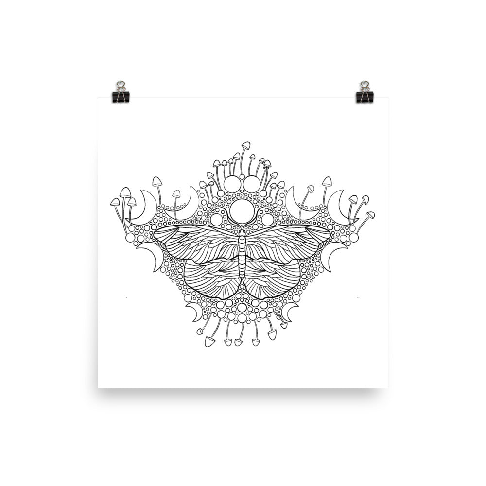 Bubbles and Butterflies Poster