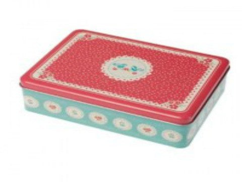 Flower Doily Vintage Sewing Tin- The Haberdashery