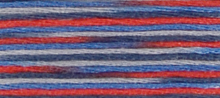 Blue/Red/Grey 4512 States - DMC Stranded Coloris Embroidery Cotton
