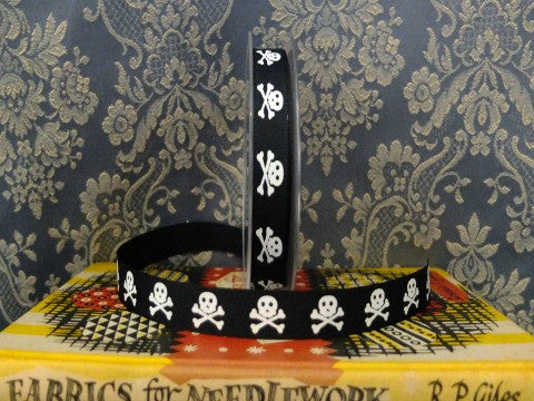 Skull and Crossbones Ribbon- The Haberdashery