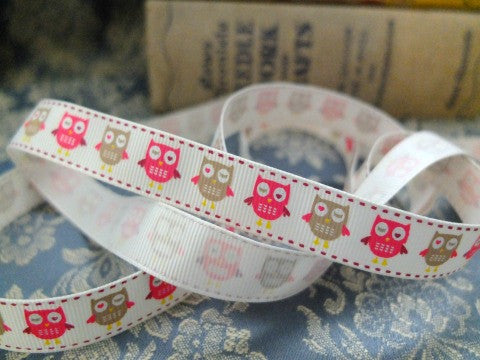 Grosgrain Owls Ribbon- The Haberdashery