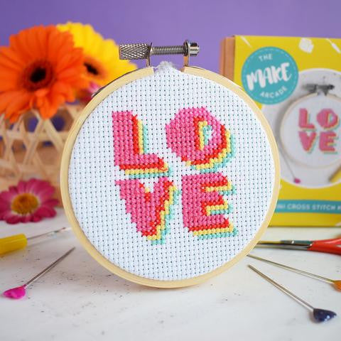 Love mini cross stitch kit