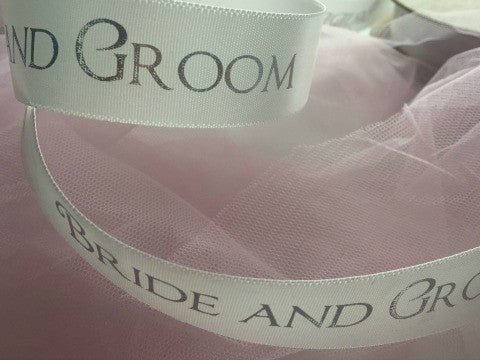 Bride and Groom Ribbon