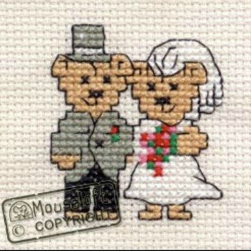 Bride and Groom Card Cross Stitch
