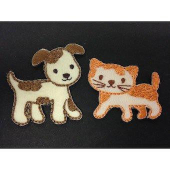 Cat and Dog Embroidered Motif