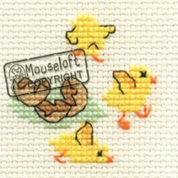 Easter Chicks Card Cross Stitch