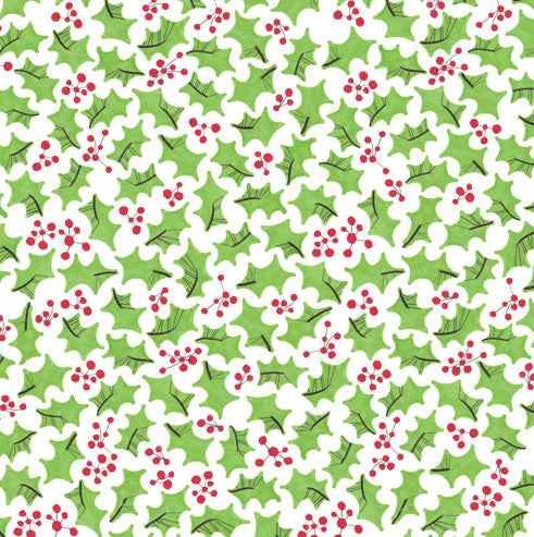 Festive Holly Fabric