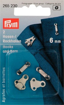 Prym Trouser and Skirt Hooks and Bars- The Haberdashery