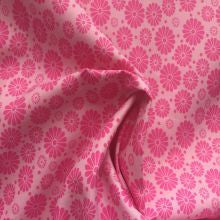 Pink Geometric Flower Fabric