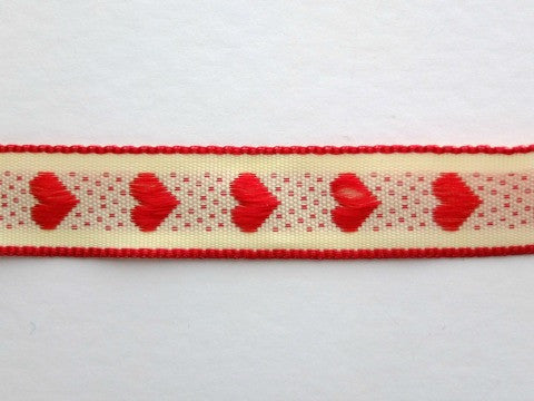 Red Rustic Heart Ribbon