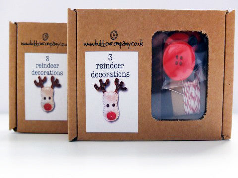 3 Reindeer Decorations- The Haberdashery