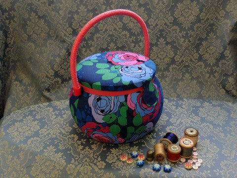 Rose Pot Shaped Sewing Basket- The Haberdashery