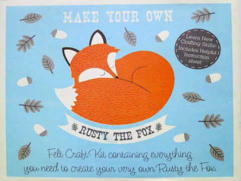 Make Your Own Rusty The Fox Felt Kit- The Haberdashery