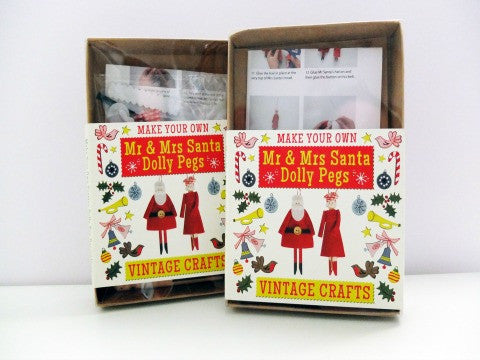 Mr. & Mrs. Santa Dolly Pegs Kit- The Haberdashery