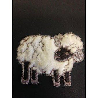 Sheep Embroidered Motif