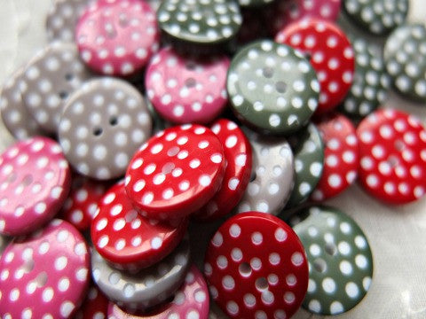 Mixed small spotty buttons
