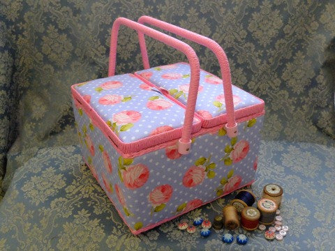 Rose Spot Sewing Basket- The Haberdashery