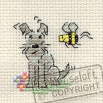 Summer Time Little Dog Cross Stitch