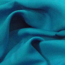 Teal Plain Viscose- The Haberdashery