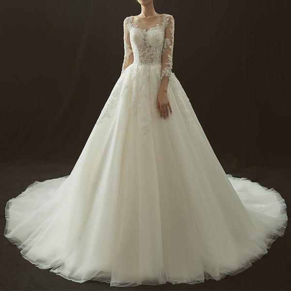 princess-court-train-wedding-dress-MN2019101502