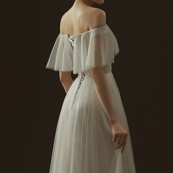 A-Line Tea-length Tulle Dress