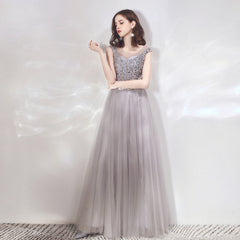 A-Line Ankle-length Tulle Bridesmaid Dress