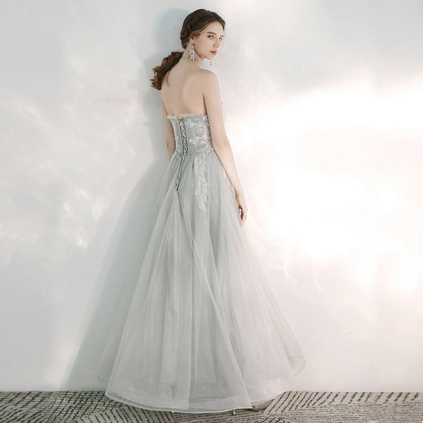 A-Line Ankle Length Tulle Bridesmaid Dress