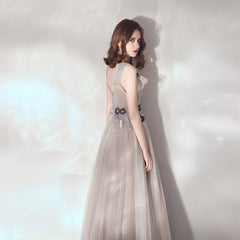 A-Line Ankle-length Tulle Bridesmaid Dress with Flower