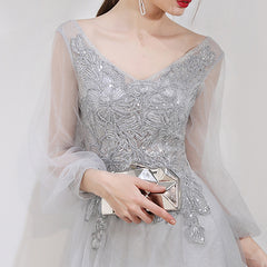 A-Line Sweep-Brush Trai Tulle And Lace Wedding Dress