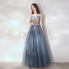 A-Line Tulle Bridesmaid Dress with Flower
