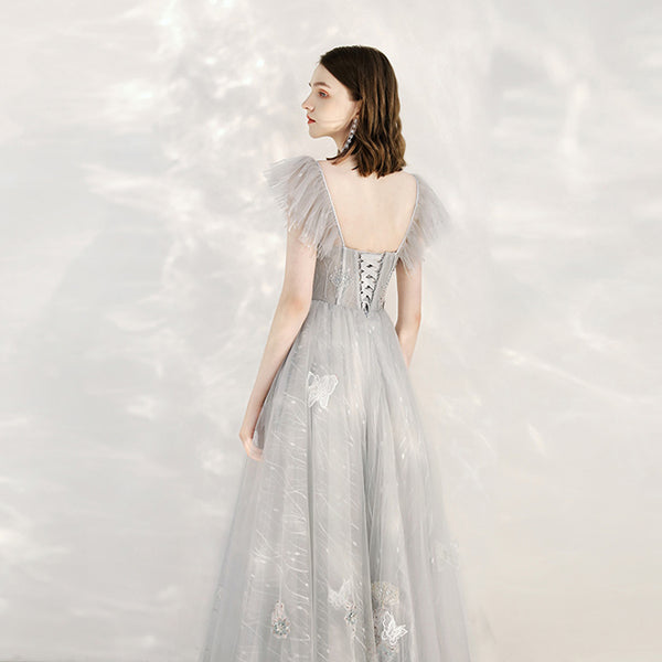 Butterfly A-Line Ankle-length Tulle Bridesmaid Dress