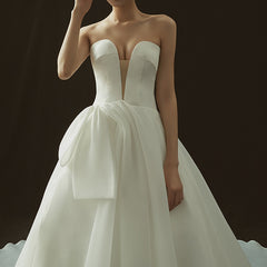 Princess Court Train Stain and Chiffon Wedding Dress
