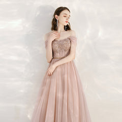 Sparkle A-Line Tulle Bridesmaid Dress