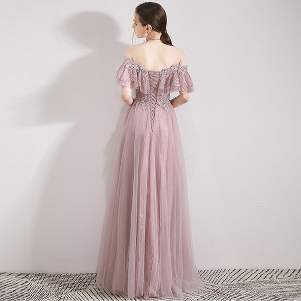 Sparkle Princess A-Line Tulle Bridesmaid Dress